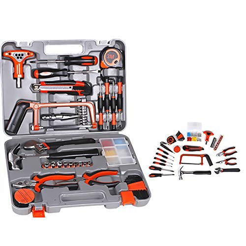 82 Stück Heimwerkerwerkzeug-Kit Mit Screwdriver & Hand-Tools In Der Speicherbox Für Heimwerker, Dekorieren Und Home Wartung-Alles In Sturdy Storage Box