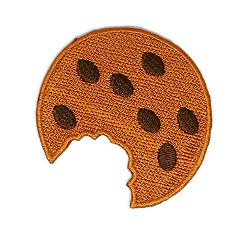 Braun Cookie Sweet Funny Cartoon bestickt Nähen Eisen auf Patch Cartoon Nähen Eisen auf bestickte Applikation Craft handgefertigt Baby Kid Girl Frauen Tücher DIY Kostüm Zubehör