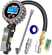 Oasser Tire Inflator with Gauge Tire Pressure Gauge Inflator 255PSI Air Compressor Accessories with Brass Air