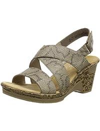 Rieker 60659-64 - Sandalias de cuña Mujer