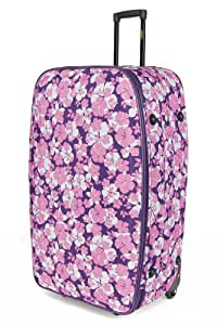 Frenzy Large 26 Inch Expandable Lightweight Luggage Suitcase Bag - 3 Years Warranty (Pink 282)