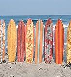 Vaelson Designer Duschvorhang Enjoy Beach & Surfing 180x180 cm incl. Ringe