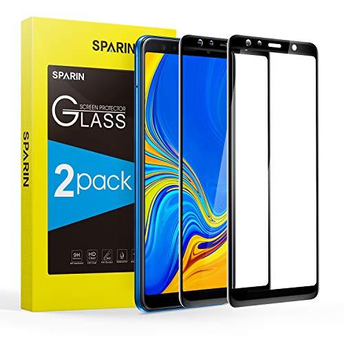 SPARIN 3D Volle Deckung [2 Stücke] Panzerglas für Samsung Galaxy A7 2018, Schutzfolie mit [9H Härte] [Anti-Kratzen] [Blasenfrei] [HD Klar] [2 Stück]