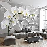 Tantoto Fototapete 3D Große Wandbild 3D Dreidimensionale Moderne Minimalistische Orchidee Fernsehen Hintergrund Tapete, Wohnzimmer Schlafzimmer Tapete Vlies Wand Tuch