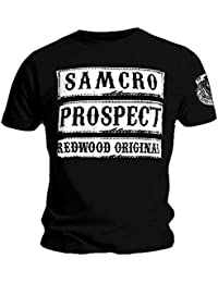Sons of Anarchy Official T Shirt Samcro Prospect Redwood Original All Sizes