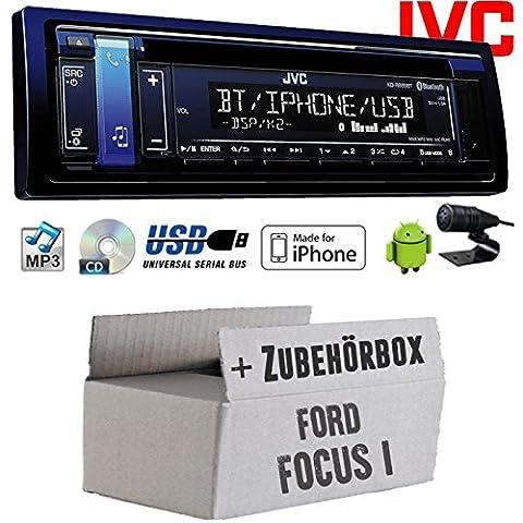 Ford Focus 1 - JVC KD-R889BT - Bluetooth | CD | MP3 | USB | Android | iPhone Autoradio - Einbauset