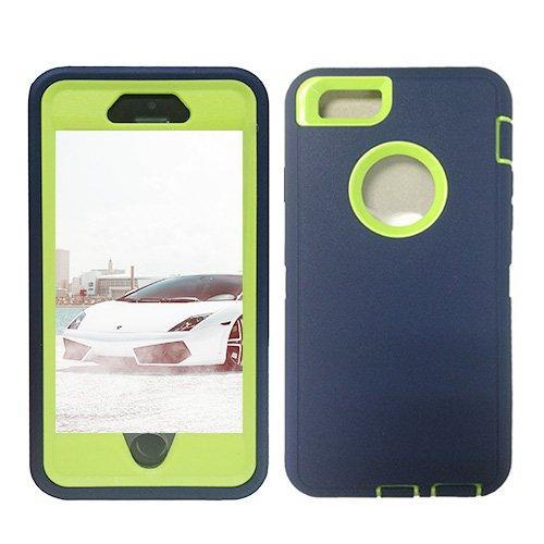 F8Q Colorful hybride étanche antichoc en caoutchouc Housse de protection Gel Case pour iPhone 6 bleu