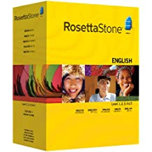 Rosetta Stone Version 3: English (UK) Level 1, 2, 3, 4 & 5 with Audio Companion (Mac/PC CD)