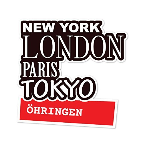 JOllify Aufkleber - ÖHRINGEN – Farbe: Design: New York, London, Paris, Tokyo