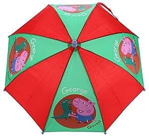 Peppa Pig George Umbrella Stick, 56 cm, Red