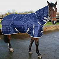 Phoenix Medium Weight Full Neck Horse Stable Rug Quilted Blanket AND Tigerbox® Antibacterial Pen!