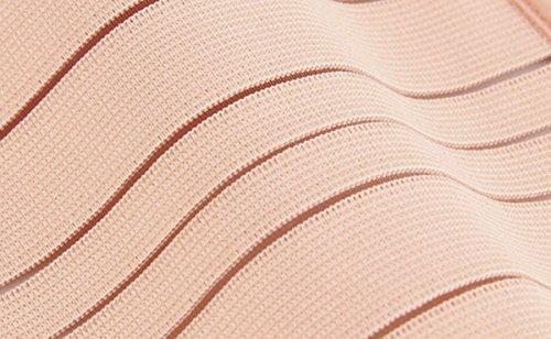 FEOYA Elastisch Damen Postpartum Slimming Belt Atmungsaktive Postpartum Bauchband Nach Geburt abnehmen Bauch Gütel für Taillenmieder Taillenformer Hautfarbe-streifen