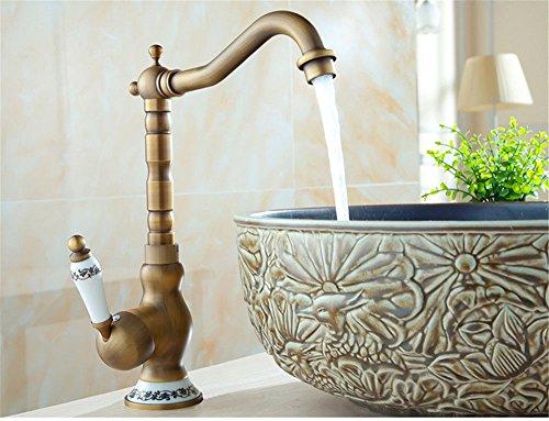 LHbox Bad Armatur in Bad für Waschbecken Waschtisch Wasserhahn Waschtischarmatur Antiker Tisch...