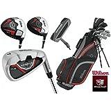 Wilson Profile XLS Hommes Complet Club Set Golf Paquet Ajusté Avec Acier Shafted Fers & Graphite Shafted Bois Hommes Droit Main