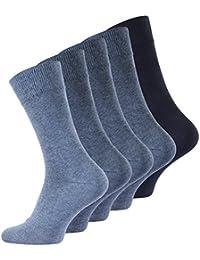 Lot de 10 paires de chaussettes classiques pour l'homme d'affaires. Avec une teneur élevée en coton. Homme