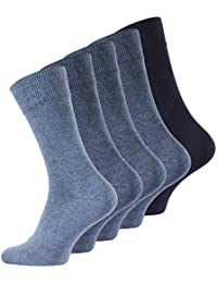 5 oder 10 Paar Herren Baumwoll Business Socken in verschiedenen Farben