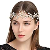 Shelley commerce handgefertigt Kristall Strass Perlen Stirnband Retro Stil Hochzeit Brautschmuck Haarreif Brautschmuck Haarschmuck Vine Strassbesatz