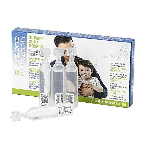 SOLUZIONE RINOWASH Soluzione salina ipertonica tamponata (3,5%) | Per il ripristino della funzionalità della mucosa nasale