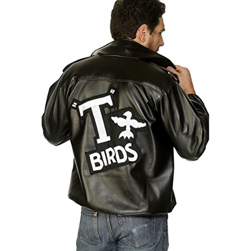 Imagen de chaqueta motera de grease disfraz motorista atuendo alternativa