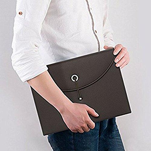 r tragbar Akkordeon Datei Leder Dokument Tasche Handtasche, wasserdicht Mobile Ordner Datei Organizer A4und Buchstabe Größe 13Taschen Mehrfache Dokument Fall, Datei Box, schwarz ()
