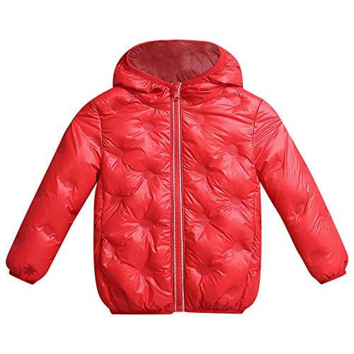fe3378a56eb7f Doudoune Enfant Fille Garçon Manteau Léger Duvet de Canard Courte d hiver à Capuche  Chaud