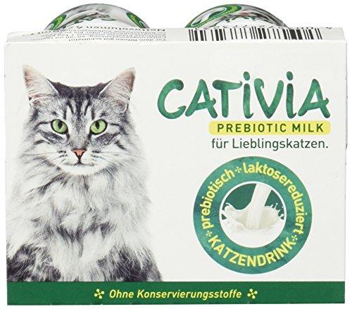 Dehner Cativia, prebiotische Katzenmilch, 4 Flaschen (4 x 95 ml)