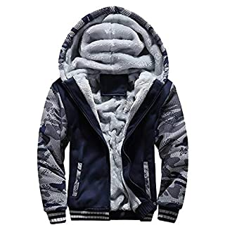 Igemy Herren Odin Print Jacke Winter Warmen Mantel