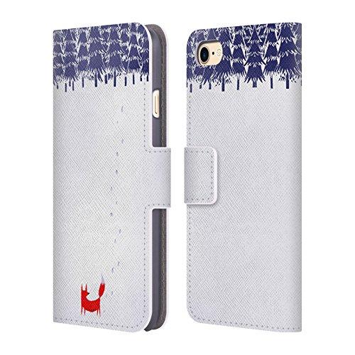 Ufficiale Robert Farkas Vulpes Volpe Cover a portafoglio in pelle per Apple iPhone 6 / 6s Solo Nella Foresta
