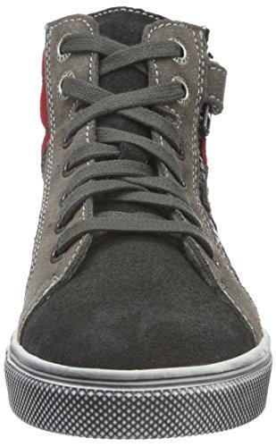 Richter Kinderschuhe Jungen Ola Hohe Sneakers Grau (steel/pebble/fire 6501)