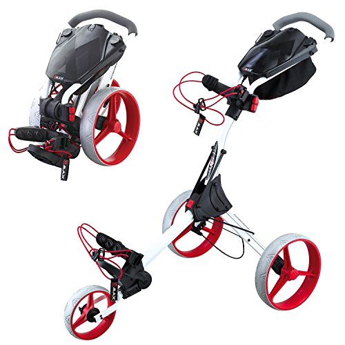 BIG MAX IQ+ Golftrolley Cart - 2015 Modell (Weiß/Rot)