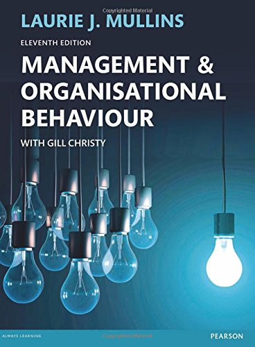Management and Organisational Behaviour 11th edn (Pear05)