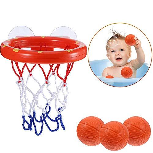 Juguetes para el baño, Mini Canasta de Baloncesto y Juego de Juegos de Agua con bañera para niños pequeños 3 Bolas Incluidas