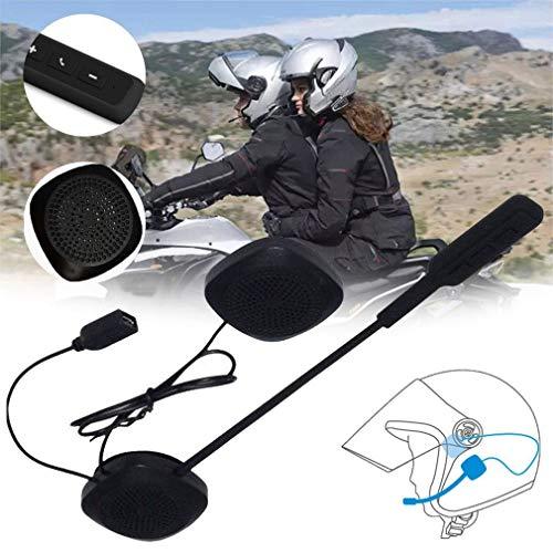 uleileidega Mh03 Casco del Motociclo Cuffia Moto Handsfree della Cuffia Auricolare Libero per Mp3 Music GPS Car Styling Nero