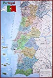 Close Up Mapa de Portugal Poster Karte von Portugal (61cm x