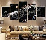 ZhenFa Fünf-Link Raumschiff Collage rahmenlose 5 Kombination hängen Gemälde (können, doppelseitigem Kleber, wie z.B. Feste oder Frame TA UT-Federung)
