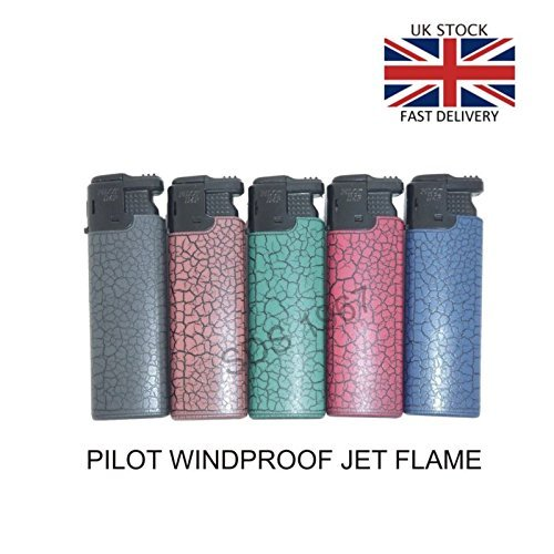 518auCph5xL. SS500  - 25 Pack Refillable 'Pilot' WINDPROOF 'FLAMELESS' Turbo Electronic Gas Lighters