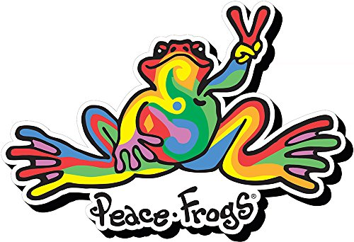 magnet-peace-frogs-swirl-funky-chunky-new-licensed-95454