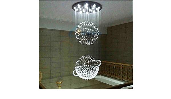 Vingo Led Kronleuchter Modern Deckenleuchte Kristall ~ Gowe modernes design doppel spere ball led k kristall