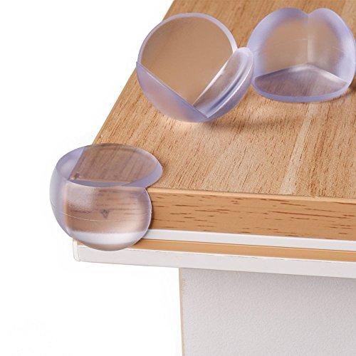 Premium Kantenschutz | Eckenschutz | Abdeckung für die Tischkante | Schutz vor Verletzung | Kindersicherung für die Tischecke | unsichtbar | 8 Stück | Nie wieder an der Ecke stoßen