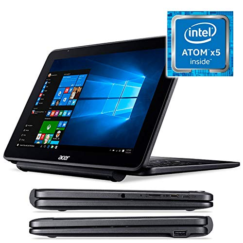 Acer One 10 S1003-174L Convertible 2 in 1 10,1 Zoll WXGA LCD (WiFi, Bluetooth, Prozessor Intel Atom x5-Z8300, 2 GB RAM, 32 GB Speicher, Windows 10 Home) schwarz - spanische QWERTY-Tastatur Wxga, 2 Gb Ram
