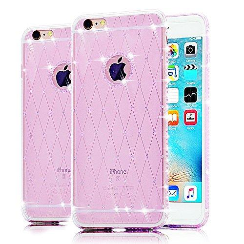 Cover iPhone 5 TPU,Caseper iPhone SE in TPU,Bonice iPhone 5S Custodia Glitter Bling Case Cover iPhone 5 5S SE (porpora)