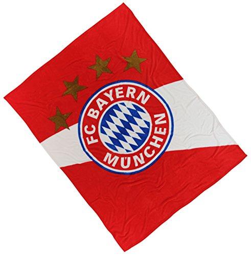 Bayern München Plaid Polaire/Couverture Polaire?Plus quatre étoiles autocollant offert Forever Munich