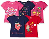 #4: Donuts Baby Girls' Plain Regular Fit T-Shirt (Pack of 5)(273735352_Assorted_12M)