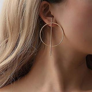 Yesiidor Runde Kreis Geometrische Ohrringe Frauen Mädchen Mode Kreative Stilvolle Charming Punk Ohrringe Schmuck Zubehör