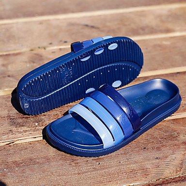Slippers & amp da uomo;Sandali PU primavera-estate casuale Nero Blu Khaki sandali US10 / EU43 / UK9 / CN44