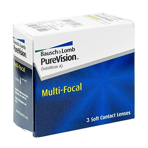 PureVision Multifocal Monatslinsen weich, 3 Stück / BC 8.60 mm / DIA 14.00 / ADD LOW / 1.75 Dioptrien