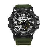 iBasteES Fitness Smart Watch Sanda Marque de Luxe pour Homme Montre Sport numérique Montre G Shock Militaire Multifonction Montre Smartphone Bracelet sans Fil pour Smartwatch