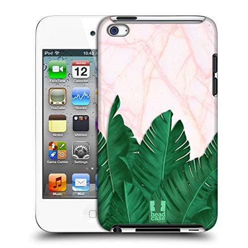 Head Case Designs Bananen Blaetter Tropische Marmor Drucke Harte Rueckseiten Huelle kompatibel mit Apple iPod Touch 4G 4th Gen - Apple Touch 64gb Mp3-player Ipod