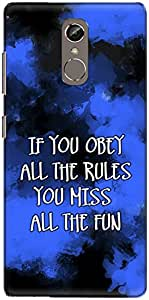The Racoon Grip miss the fun blue hard plastic printed back case/cover for Gionee S6S
