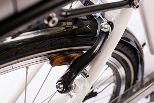Telefunken E Bike Damen Elektrofahrrad Alu Weiß 7 Gang Shimano